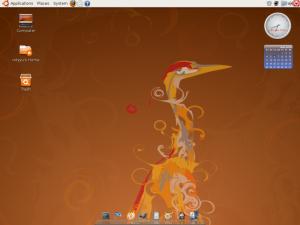Dektop dengan AWN (Avant Window Navigator)