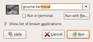 Jalankan terminal