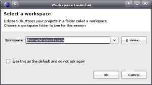 Dialog Workspace Launcher
