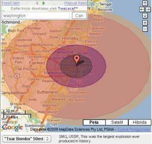 Simulasi ledakan bom atom