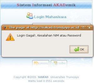Password salah