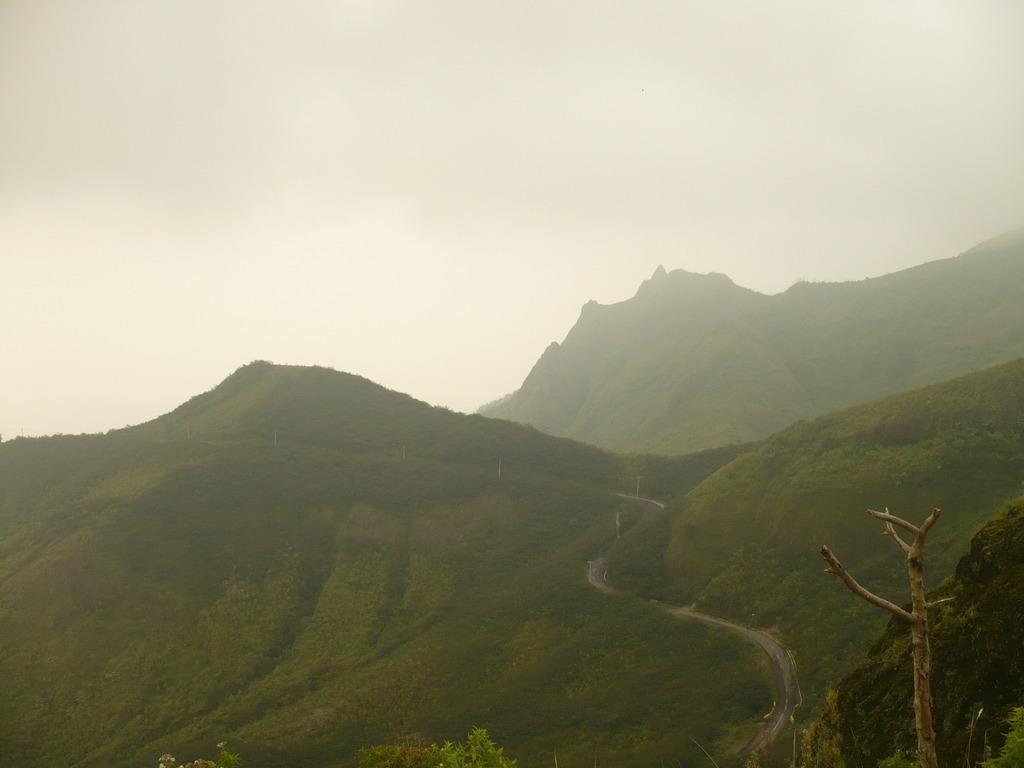 Jalan masuk ke Gunung Kelud