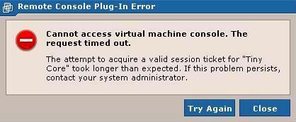 Error VMWare