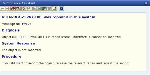Help dari SAP untuk error bersangkutan