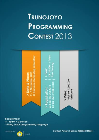 trunjoyo programming contest